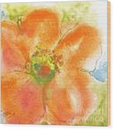 Coral Poppy II Wood Print