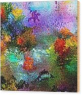 Coral Reef Impression 1 Wood Print