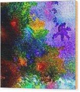 Coral Reef Impression 5 Wood Print
