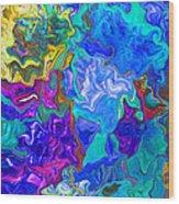 Coral Reef Fantasy Wood Print