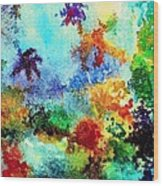 Coral Reef Impression 13 Wood Print