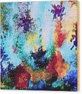 Coral Reef Impression 14 Wood Print