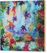 Coral Reef Impression 16 Wood Print