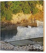 Coralville Dam At Capacity Wood Print