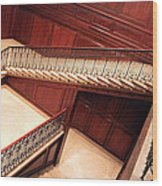 Corcoran Gallery Staircase Wood Print