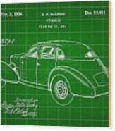 Cord Automobile Patent 1934 - Green Wood Print