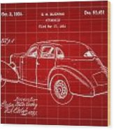 Cord Automobile Patent 1934 - Red Wood Print