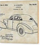 Cord Automobile Patent 1934 - Vintage Wood Print