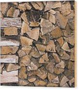 Cord Wood Wood Print