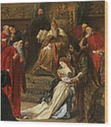 Cordelia In The Court Of King Lear, 1873 Wood Print