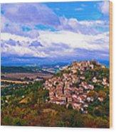 Cordes-sur-ciel France Wood Print
