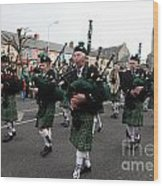 Corduff Pipe Band St Patricks Day Parade Carrickmacross Wood Print