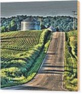 Corduroy Corn And Seersucker Silos Wood Print