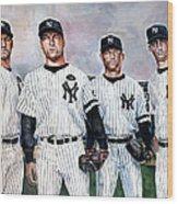Core 4 Yankees  Wood Print by Michael  Pattison