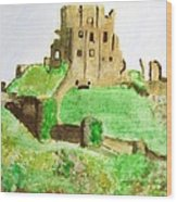 Corfe Castle Wood Print