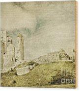 Corfe Castle - Dorset - England - Vintage Effect Wood Print
