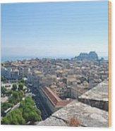 Corfu City Wood Print