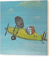 Corgi Aviator Wood Print