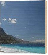 Corinth Blue Two Wood Print