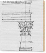 Corinthian Order Wood Print