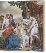Coriolanus And His Mother Volumnia Wood Print