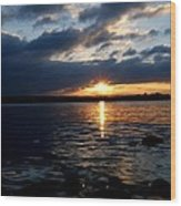 Cork Harbour Sunset Wood Print