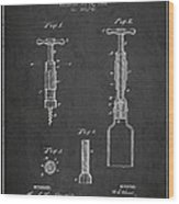 Corkscrew Patent Drawing From 1884 Wood Print