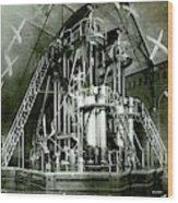 Corliss Exhibition Steam Engine Wood Print