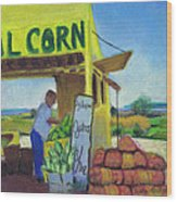 Corn And Oysters Farmstand Wood Print