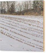 Corn Code Wood Print