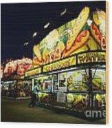 Corn Dog Kiosk Wood Print