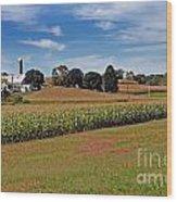 Corn Farmer Wood Print