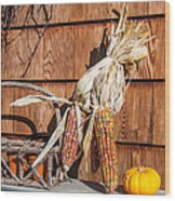 Corn Wood Print by Guy Whiteley
