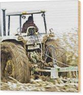 Corn Harvest Wood Print