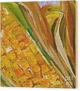 Corn In The Husk Wood Print