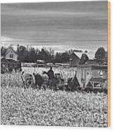 Corn Picker November 2013 Wood Print