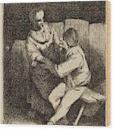 Cornelis Bega Dutch, 1631-1632 - 1664, The Refused Caress Wood Print