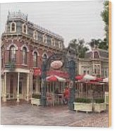 Corner Cafe Main Street Disneyland 02 Wood Print