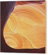Corner Flame-sq Wood Print