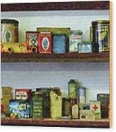 Corner Grocery Store Wood Print