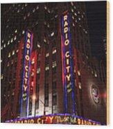 Corner Of Radio City Music Hall Wood Print