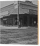 Corner Of Stone And W. Congress Street 180 Degrees Panorama Tucson Arizona C.1905 Wood Print