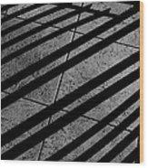 Corner Railing Wood Print