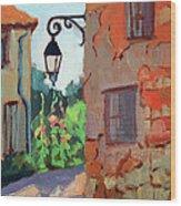 Street Corner In St. Colombe Wood Print
