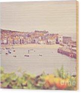 Cornish Harbour Wood Print