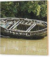 Cornish Shipwreck Wood Print