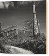 Cornish Tin Mine. Wood Print