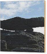 Cornwall Balancing Boulder Wood Print