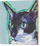 Corny Kitty Wood Print