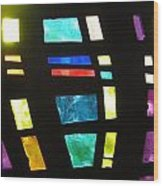 Coronado Hospital Chapel Stained Glass Wood Print